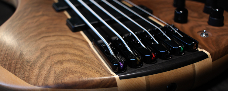 "F-Lower 6 strings Bass  | Flamed walnut ""Zero-matte"" finish"