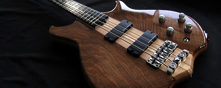 Africa-II 4 strings | Deluxe version flamed walnut