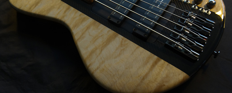Session Bass | The modular 5 strings bass (quilted maple)